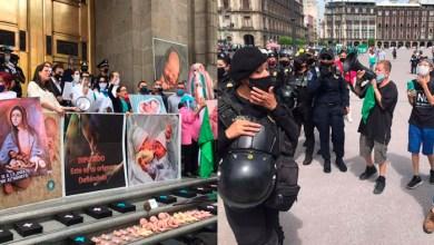 Photo of #CDMX Se Bronquean Feministas Y ProVidas En Manifestación Por Tema De Aborto