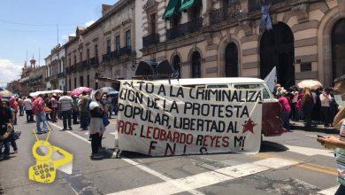 Photo of #Morelia CNTE Y FNLS Bloquean Avenida Madero