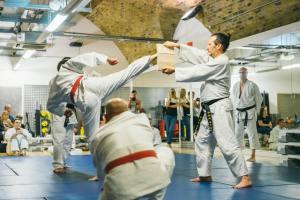 London Martial Art - Breaking wood at a Hapkido grading