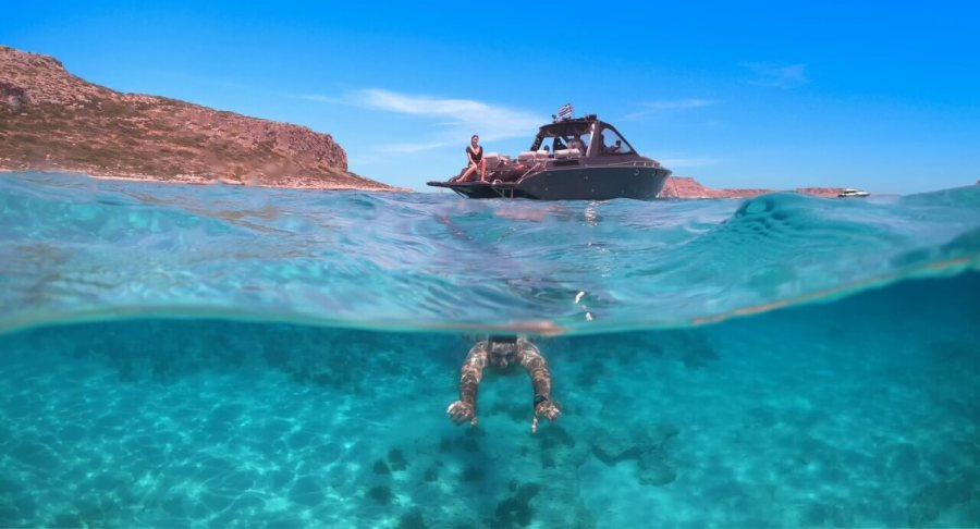 explore Crystal clear waters with Chania Boat Tours