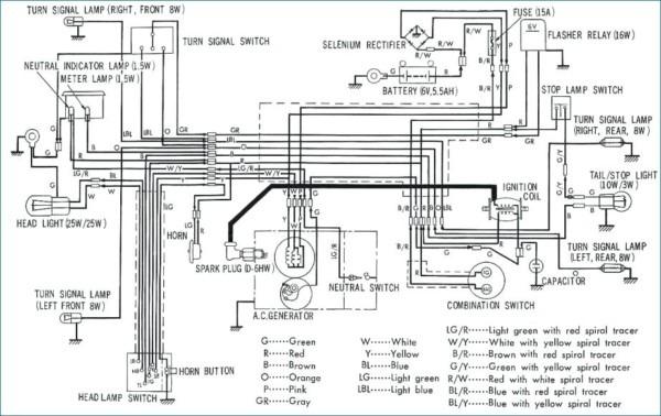 Honda C90 Wiring Diagram
