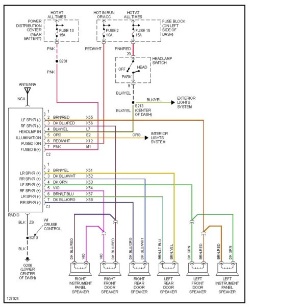 2004 dodge grand caravan radio wiring diagram  wiring