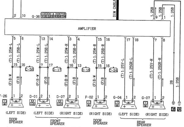 diagram 1998 mitsubishi mirage radio wiring diagram full