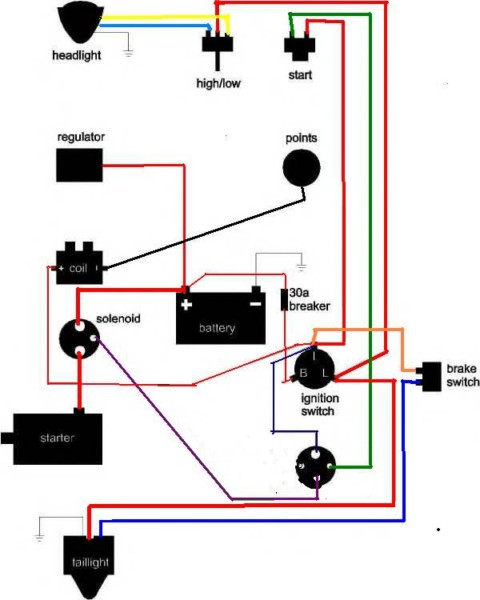 ironhead wiring schematic wiring diagrams