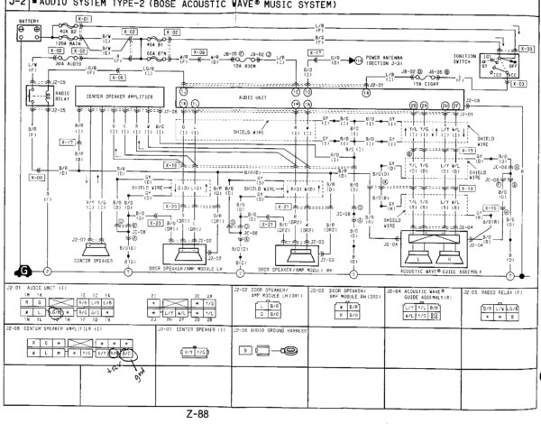 Rx8 Bose Amp Wire Diagram