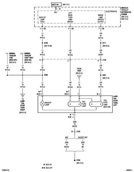 trailer light wiring diagram dodge ram winnebago industries diagrams chevy express tail