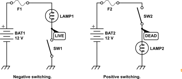 Switch To Ground Circuit