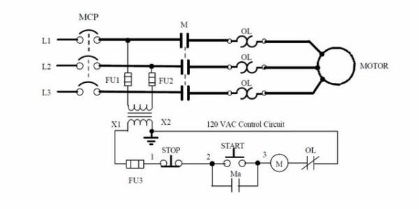Start Stop Circuit Schematic