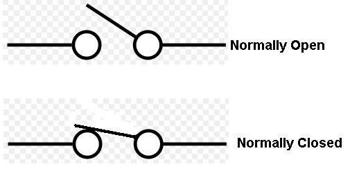 Normally Open And Normally Closed Switch Diagram