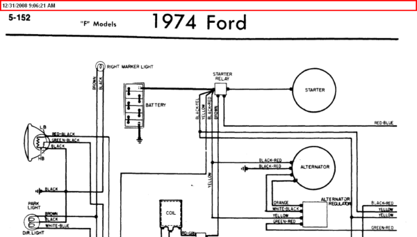 1974 Ford F100 Wiring Diagram