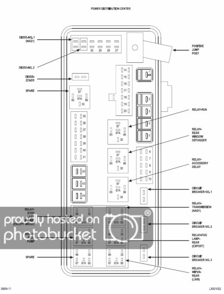 2007 Charger Fuse Diagram