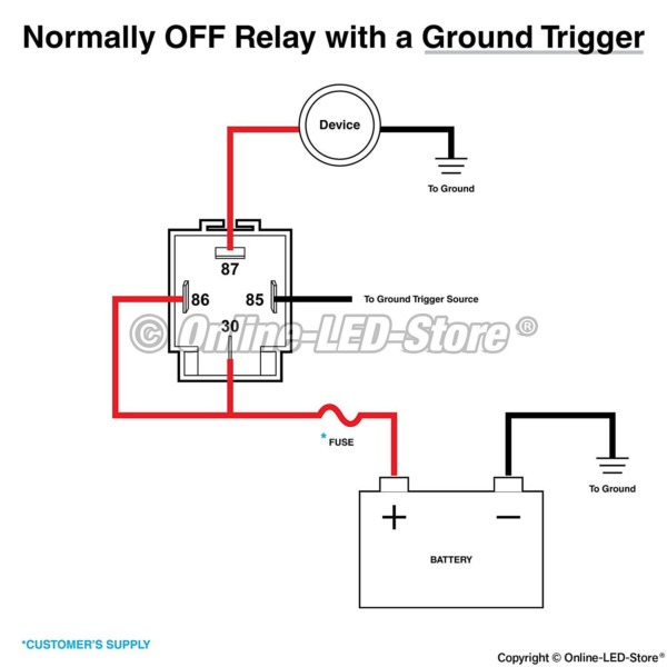 12v 4 Pin Relay Wiring