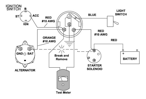 Chevy 4 Wire Alternator Wiring Diagram : Diagram In