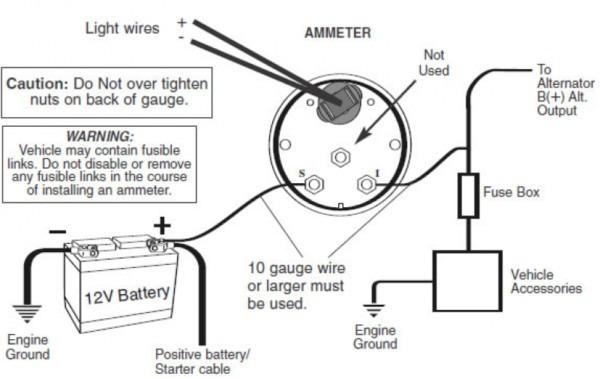 amp gauge wiring diagram mustang  auto wiring diagrams