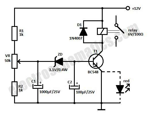 Relay Circuit Diagram 12v