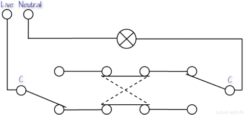Three Way Switch Circuit Diagram