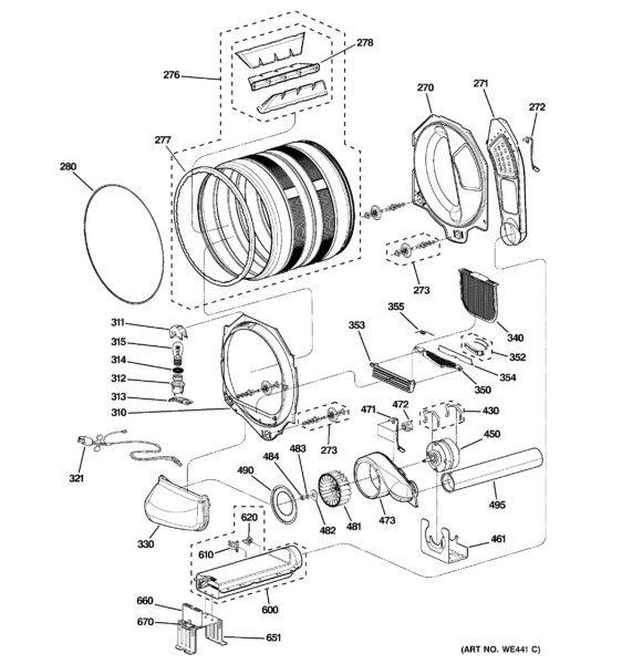 Ge Dryer Diagram