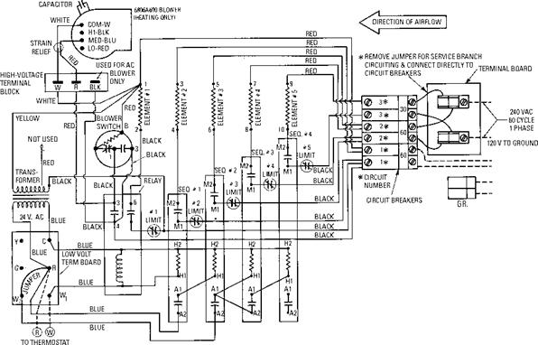 Electric Furnace Wiring Schematic