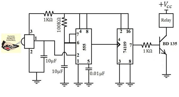 Fan Light Remote Control Circuit