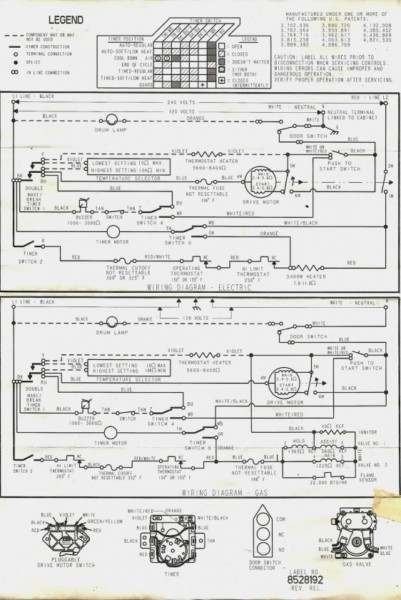 Kenmore 70 Series Dryer Wiring Diagram