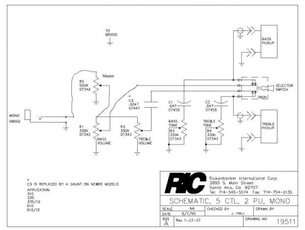 Rickenbacker 330 Wiring Diagram