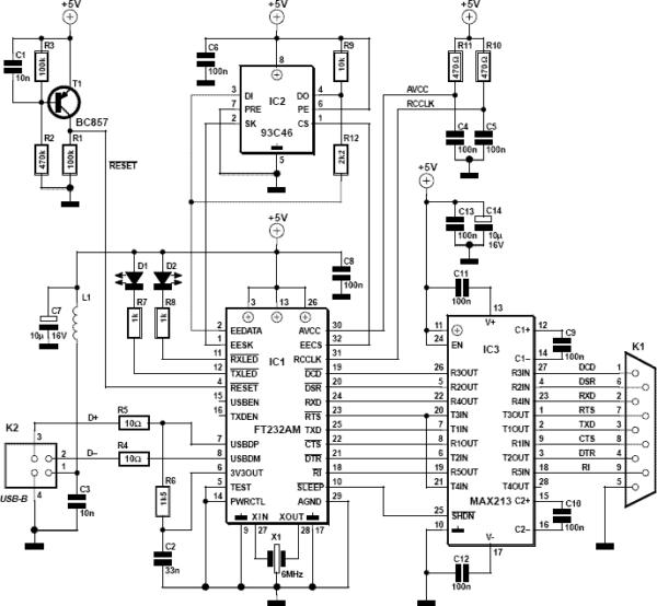 Usb Port Schematic Diagram