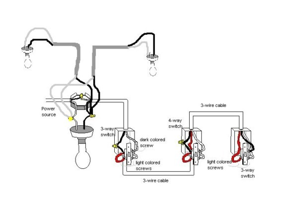Wiring A 4 Way Switch With Multiple Lights