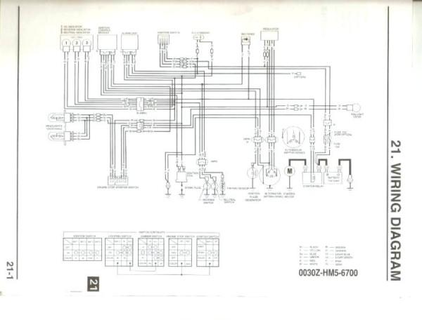1999 Honda Fourtrax 300 Wiring Diagram