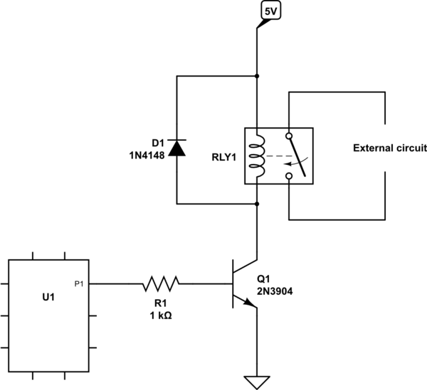5 Volt Relay Circuit Diagram