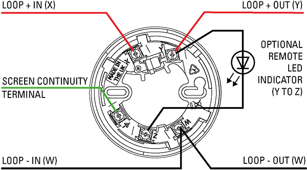 System Sensor Conventional Smoke Detector Wiring Diagram