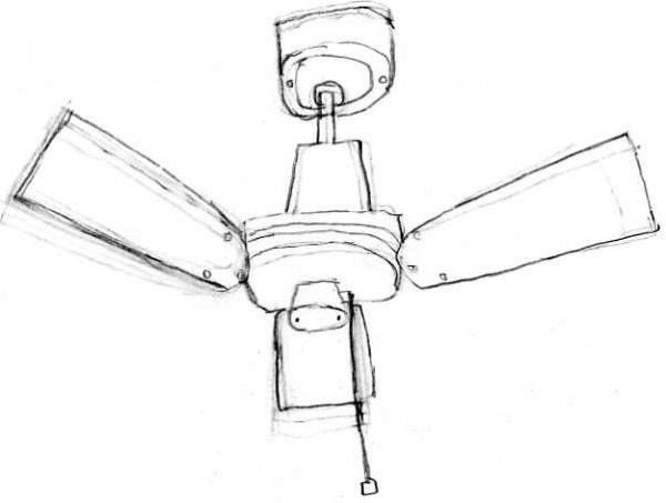 Ceiling Fan Drawing