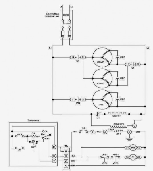 Hvac Circuit Diagram