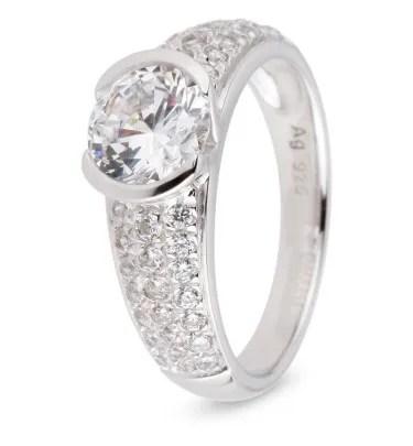 Ring Silber Kreis