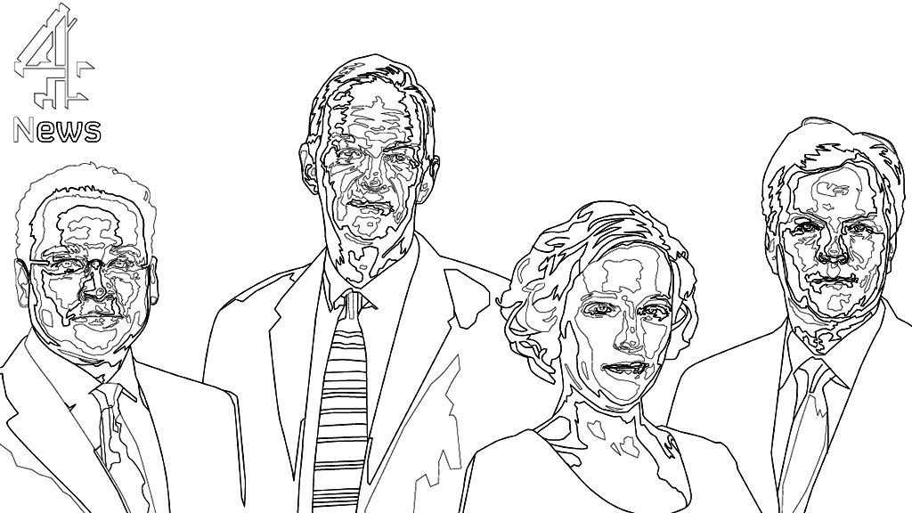 De-stress with the Channel 4 News colouring-in book