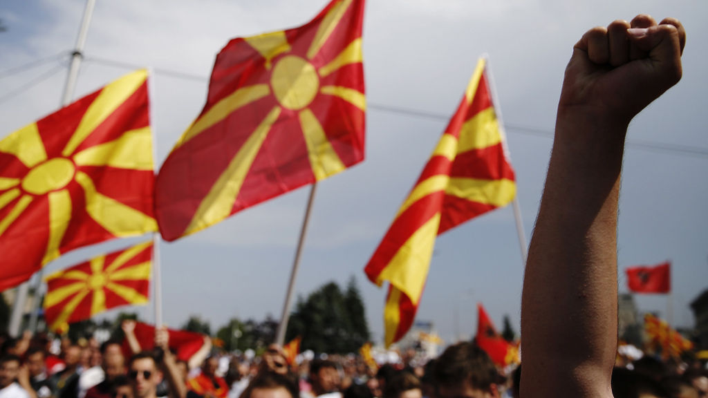 Macedonia anti-governemnt protest