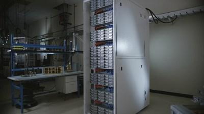 Triton rack in lab