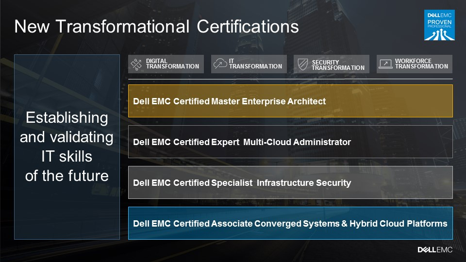 Dell Emc Announces Four New Transformational Certifications