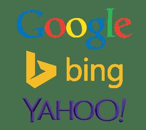 Image: Google Bing Yahoo logos