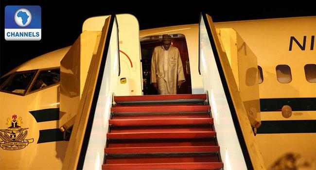 President Buhari Arrives Morocco