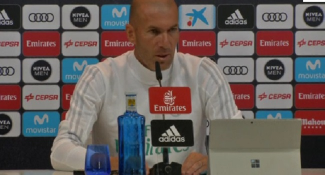 Real Madrid coach Zidane again insists Ronaldo didn't deserve dismissal