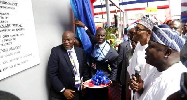 Buhari Visits Lagos, Inaugurates Ikeja Bus Terminal