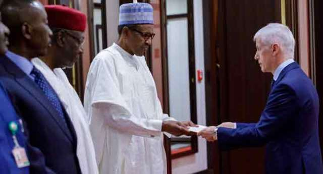 Buhari Receives Letters Of Credence From Italy, Spain Ambassadors