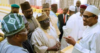 Image result for APC governors meet with buhari today