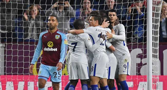 EPL: Moses strike gives Chelsea win at Burnley
