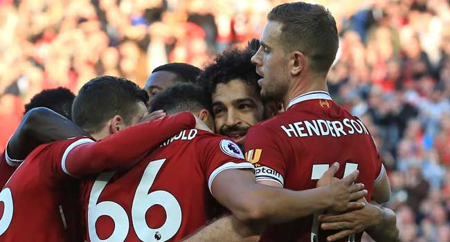 Salah hits 40 in easy Liverpool win, Southampton suffer Chelsea collapse