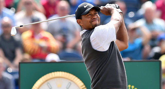 tiger woods tee time saturday us open