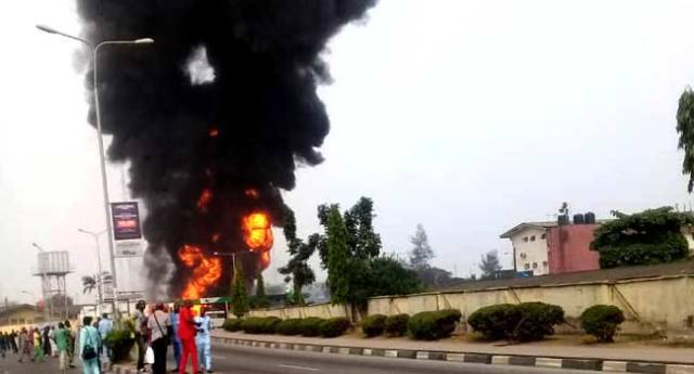 Petrol Tanker Explodes At Filling Station Near Lagos Airport