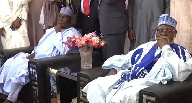More Tributes As Abdulsalami, Atiku Visit Shagari's Family