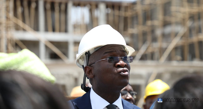 A file photo of Minister of Works and Housing, Babatunde Fashola