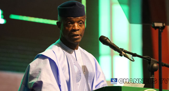 A file photo of Vice President Yemi Osinbajo